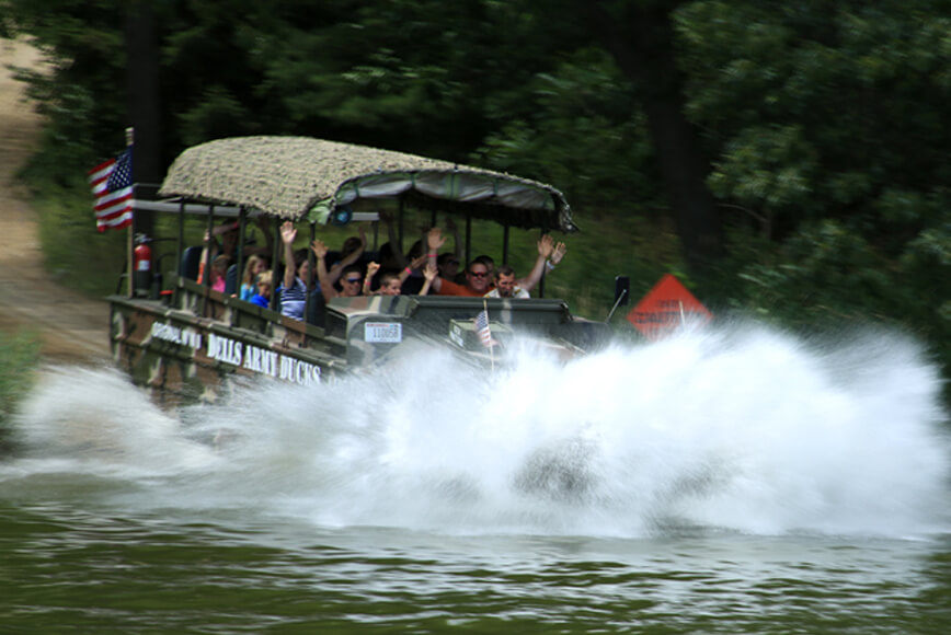 Will I Get Wet On My Duck Tour Dells Army Ducks